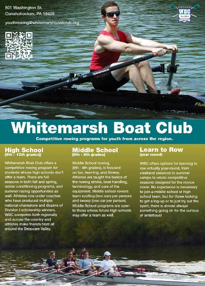 Open House For New Junior Rowing Program At Whitemarsh Boat Club