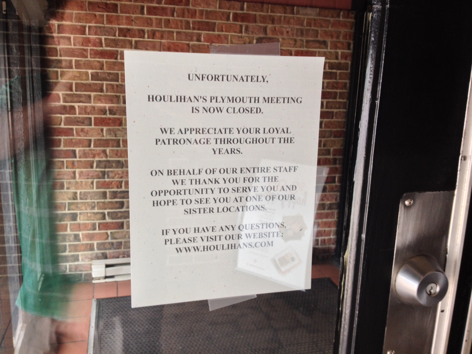 Houlihan\'s in Plymouth Meeting is Closed - MoreThanTheCurve
