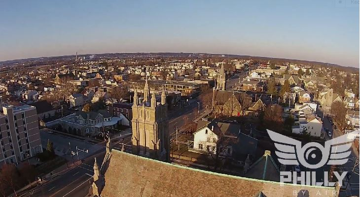 Video Taken Over The Conshohockens From A Drone From