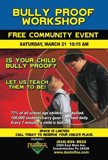 Free Bully Proof Program At Destolfo S Premier Martial