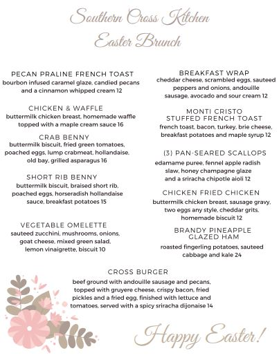Southern Kitchen Brunch Menu