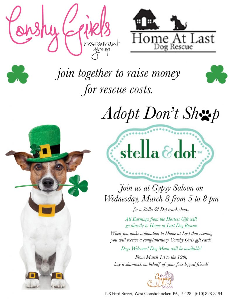 Home At Last Dog Rescue Event At Gypsy Saloon On March 8th