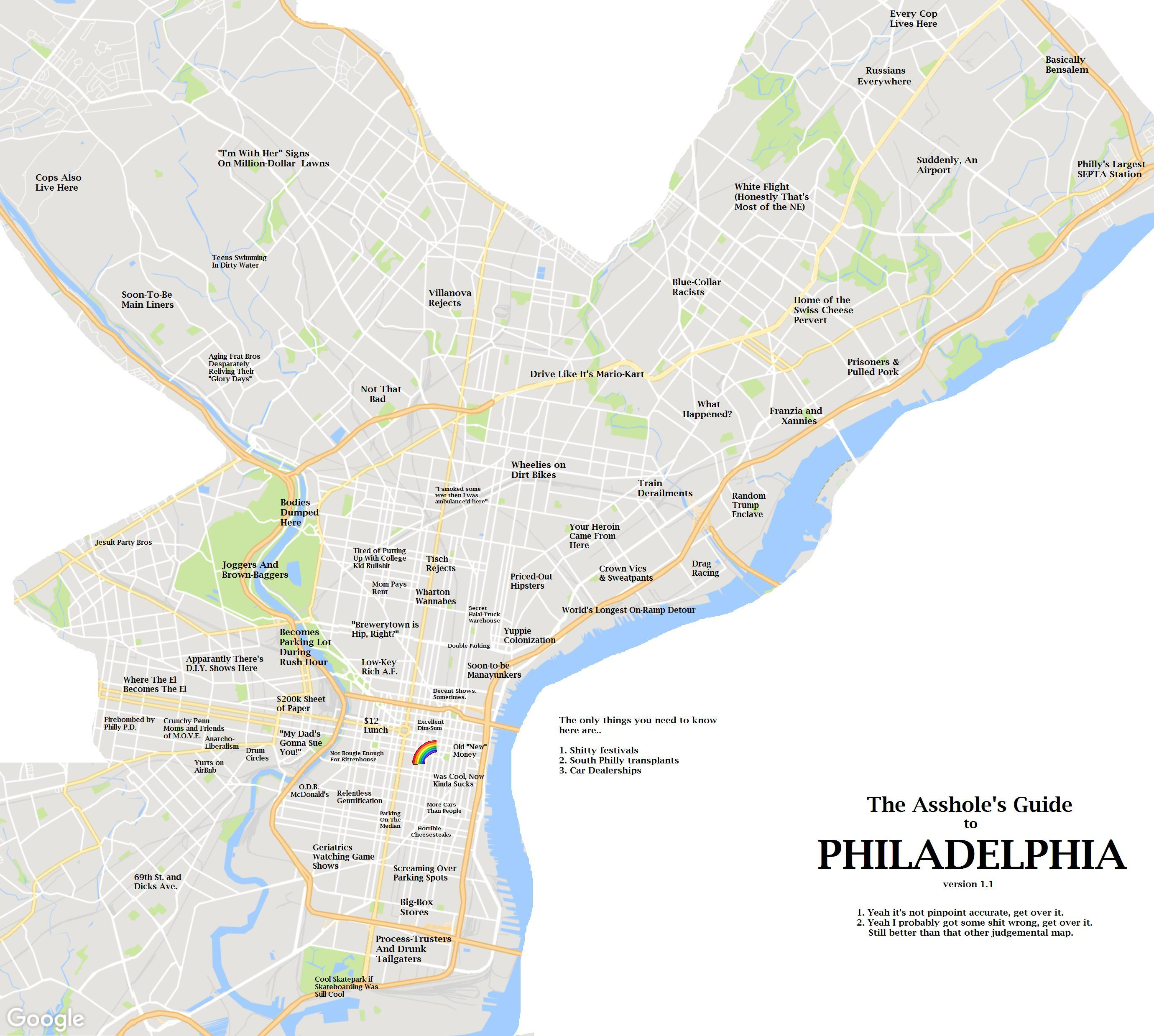 How Would You Label Conshohocken on Funny Map MoreThanTheCurve